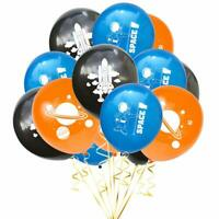 Space Party Balloons Planets Rocket Outer Space Astronaut Latex Birthday Balloon