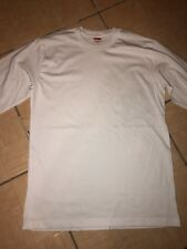 Authentic Supreme Long sleeve Shirt By American Apparel Size small white