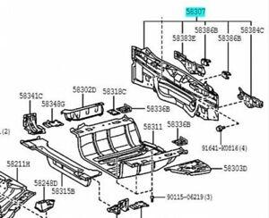 TOYOTA Genuine 58307-47060 Body Lower Back Panel SUB-ASSY PRIUS Plug in HYBRID
