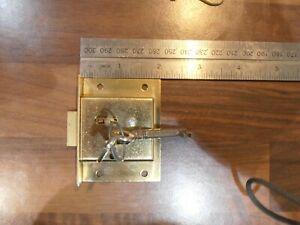 "Legge Solid Brass 2 1/2 "" Cut Cupboard / Drawer Lock with two keys"