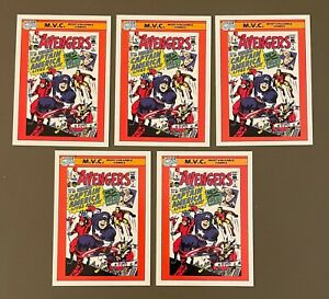 1990 Impel Marvel Universe Series 1 AVENGERS #136 Lot of (5)