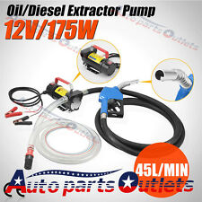 Oil Commercial Auto Portable 12V DC Electric Fuel Transfer Pump Diesel Kerosene