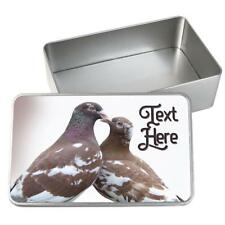 Personalised Pet Food Storage Tin HOMING PIGEON Bird Seed Container Box KS55