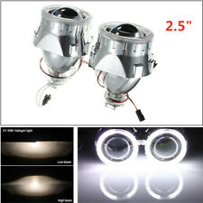 "2PCS HID Bi-Xenon Projector Lens Headlight Red Devil Demon Eye 2.5""LED Angel Eye"