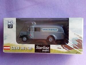 "CAMION STEYR 380/I ""ANKERBROT"" GRIS 1/87 HO BREKINA STARLINE 58009"