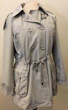 Woman's Kenneth Cole Reaction Parka Light Rain Coat Long Jacket XL