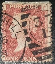 Duzik: Gb Qv Sg43 1d red Plate198 F-A used stamp (No1371)*