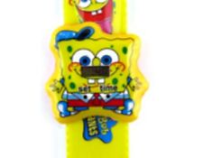 Spongebob Sponge Bob Girls Boys Kids Digital Wrist Watch Strap Yellow Easy Slap