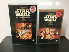 Star War 1 ex Rental and Star Wars 1 Sell Thru - PAL - VHS #