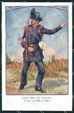 Militari Genio Italiano Soldato Uniforme Besi cartolina XF0319