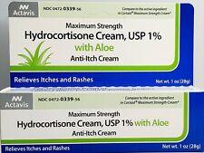Hydrocortisone Cream with Aloe 1% Maximum Strength Anti-Itch 1oz Tube -Exp 01-21