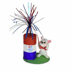 Annalee Dolls 2021 4th of July Patriotic 3in Firecracker Mouse Plush New w Tag