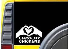 Chickens Hands Heart Sticker k093 8 inch chick incubator decal
