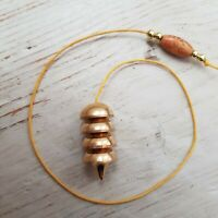 Small Osiris Brass Pendulum with Dowsing Charts and Gift Pouch