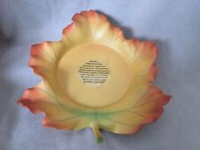 PartyLite Retired Whispering Leaf 3 Wick Candle Holder