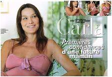 Coupure de presse Clipping 2011 (5 pages) Carla Bruni Future Maman