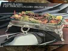 Godinger Paul Revere Silver Plated 2 Qt Gallery oblong NIB Vtg 1987, Godinger