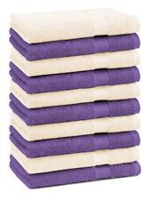 Betz 10 Toallas de cara 30x30cm PREMIUM 100% algodón en morado y beige