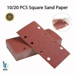 93x185mm 40-800Grits Hook and Loop Sanding Punched Sheets 8Holes for 1/3 Sanders