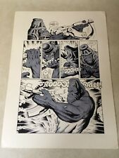 PLANET of the APES original comic art STUNNING APE FIRES MACHINE GUN, 1990!!