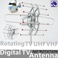 Digital TV Antenna Outdoor VHF/UHF/FM Full Channel w/ Booster EFMR55695+EPLUG01