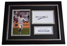 More details for darren gough signed a4 framed autograph photo display cricket aftal coa