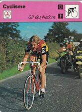 CYCLISME carte cycliste fiche photo GP des NATIONS ROY SCHUITEN