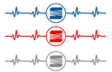 Aufklebersatz Herzschlag - Puls 2 Stk. ( SEAT )