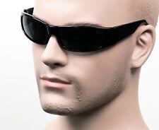 Street Slim Black Cholo Wrap Sunglasses Dark Smoke OG LOC Gangster Style 2SD