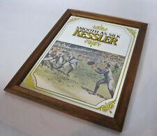 "Sports Kessler Whiskey ""Smooth As Silk"" Mirror Football / Rugby 12.5 ""x 15.5"""