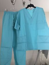 Expo scrubs set Unisex 2 pieces, Top and Bottom Color: Angle Blue size: 1Xl