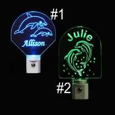 Personalized Dolphin Night Light - LED Night Light, Animal Gift