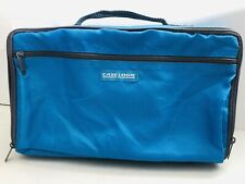 Case Logic Portable Blue Nylon 30 CD Carry Case Storage Holder