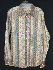 Robert Graham Womens Floral Western Styled Long Sleeve Button Front Shirt - LARG