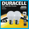 2x 40W Dimmable Pearl Golf Round Incandescent Light Bulbs BC B22 Bayonet Lamps