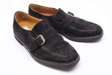 Mezlan Key Largo Mens Shoes 9 M Black Suede Leather Monk Strap Loafers Bicycle