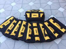 """10 Qty- Dewalt Large Heavy Duty Ballistic Nylon Tool Bag 13"""" w/ Sled Bottom!"""