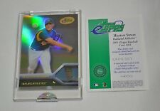 2005 ETOPPS HOUSTON STREET OAKLAND ATHLETICS CARD IN HAND READY TO MAIL