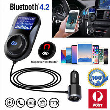 Transmisor Fm Inalámbrico Bluetooth Kit de coche radio reproductor de música MP3 LCD usb carga