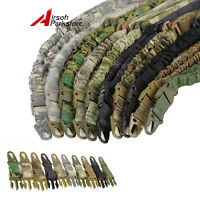 Tactical One 1 Single Point Adjustable Bungee Rifle Gun Sling Strap Military