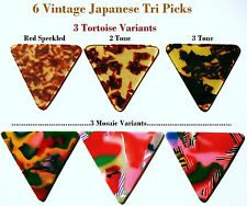Vintage Guitar Pick Picks - 6 Japanese Rare Mosaics from the 1960's' - 1980's
