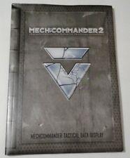 MechCommander 2 Instruction Manual Booklet - Tactical Data Display | Microsoft