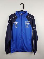 Vintage Rétro Homme Bleu Nike Athletic Sports Zip-up Survêtement Haut Veste Très bon état UK M/L