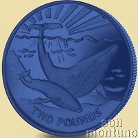 2017 Blue Whale - TITANIUM Coin in BOX with COA South Georgia & Sandwich Islands