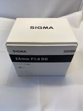 Sigma 24mm f1.4 DG Art Lens for Nikon