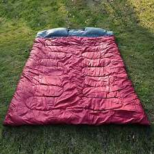 """Outdoor 2 Person Double Sleeping Bag 23F/-5C Camping Hiking 86""""x60"""" W/ 2 Pillows"""