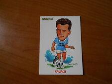 CARD SCORE GOLD 1993-NUOVE MAGLIE-CARICATURA-FAVALLI-LAZIO
