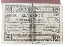 Zilverbon Nederland 1 Gulden 1918 / Zilverbon Netherlands 1918 1 Guilder