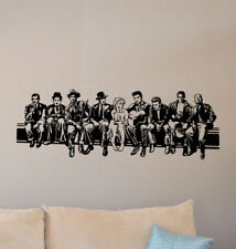 Hollywood Wall Decal Home Theater Decor Monroe Elvis Chaplin Vinyl Sticker 878