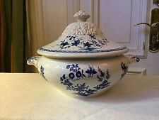 Terrine Grand Bouquet Manufacture Imperiale Nimy blau/weiß traumhaftes Teil